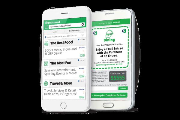 Savearound phone app